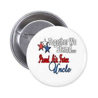 Proud Air Force Uncle 6 Cm Round Badge