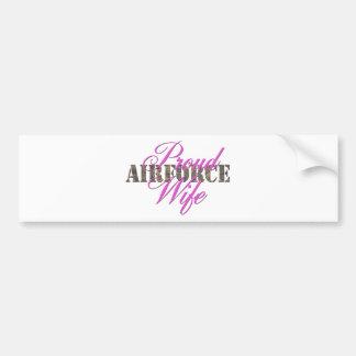 proud air force wife bumper sticker