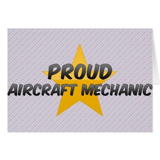 Proud Aircraft Mechanic Greeting Card