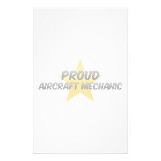 Proud Aircraft Mechanic Stationery Design