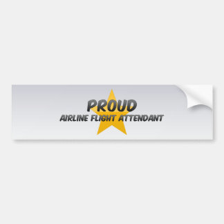 Proud Airline Flight Attendant Bumper Sticker