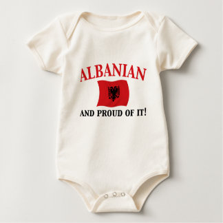Proud Albanian Baby Bodysuit