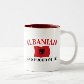 Proud Albanian Two-Tone Coffee Mug
