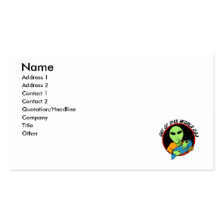Proud alien daddy business card