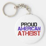 Proud American Atheist Keychains