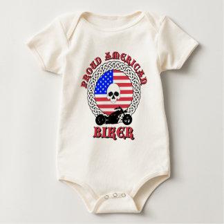 Proud American Biker Baby Bodysuit