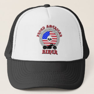Proud American Biker Trucker Hat