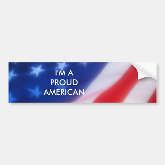 PROUD AMERICAN BUMPER STICKER