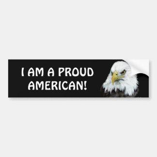 Proud American Eagle Bumper Sticker