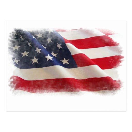 Proud American Flag Postcard