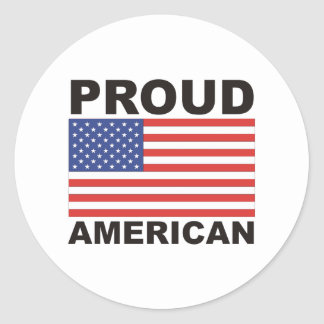Proud American Flag Products! Round Sticker
