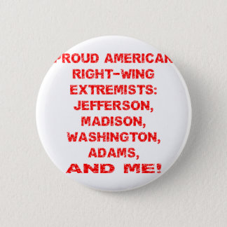 Proud American Right Wing Extremists 6 Cm Round Badge