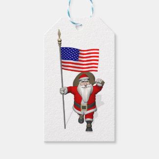 Proud American Santa Claus Gift Tags