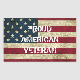 Proud American Veteran Sticker