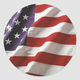Proud and Patriotic USA Flag Classic Round Sticker