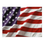 Proud and Patriotic USA Flag Postcard