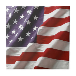 Proud and Patriotic USA Flag Tile