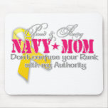 Proud and strong Navy Mum Mouse Mats