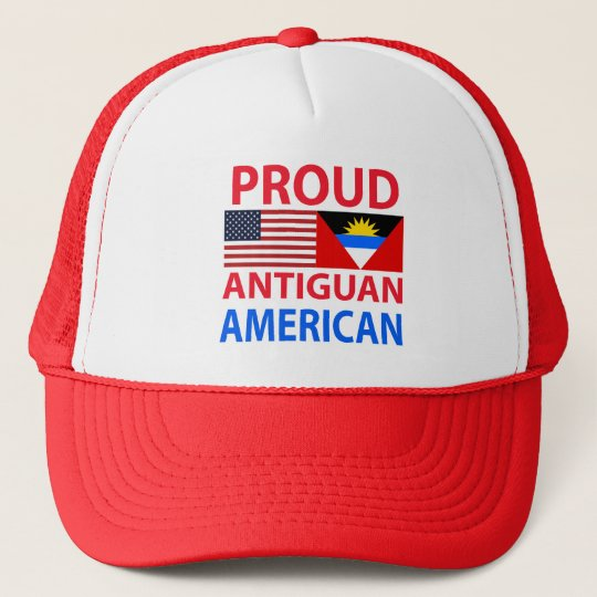 Proud Antiguan American Trucker Hat