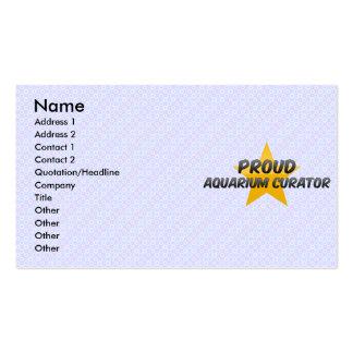 Proud Aquarium Curator Business Card
