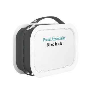 Proud Argentinian Blood Inside Lunchbox