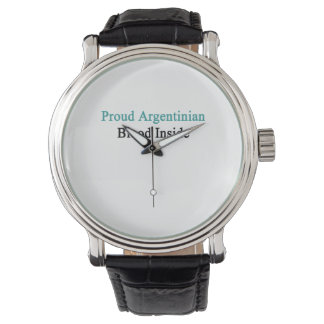Proud Argentinian Blood Inside Wristwatches