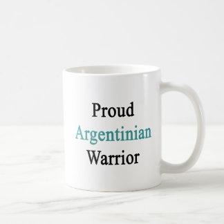Proud Argentinian Warrior Basic White Mug