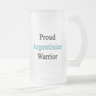 Proud Argentinian Warrior Frosted Glass Mug