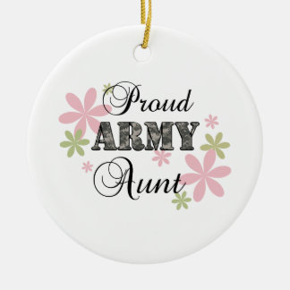 Proud Army Aunt [fl c] Christmas Ornament