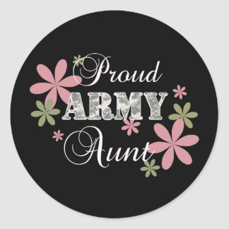 Proud Army Aunt [fl c] Round Sticker