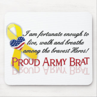 Proud Army Brat(red) Mouse Mat