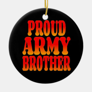 Proud Army Brother in Cheerful Colors Christmas Ornament