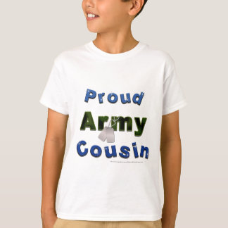 Proud Army Cousin Blue Kids Tee