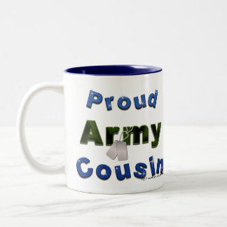 Proud Army Cousin Blue Mug