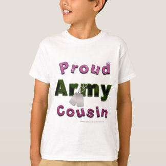 Proud Army Cousin Pink Kids Tee