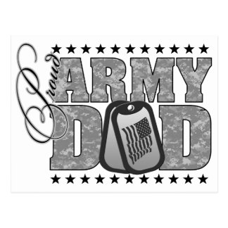 Proud Army Dad ACU Postcard