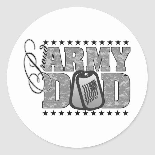 Proud Army Dad ACU Stickers