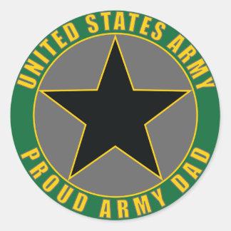 Proud Army Dad Classic Round Sticker