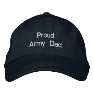 Proud Army Dad Embroidered Baseball Caps