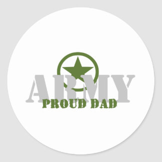 Proud Army Dad Round Sticker
