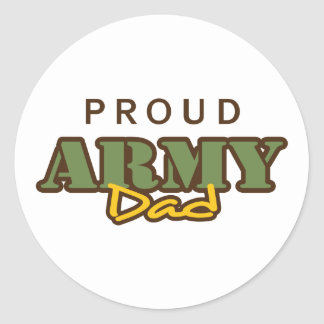 PROUD ARMY DAD ROUND STICKERS