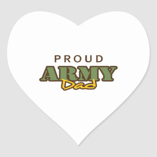 PROUD ARMY DAD HEART STICKER