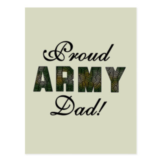 Proud Army Dad Tshirts and Gifts Postcard