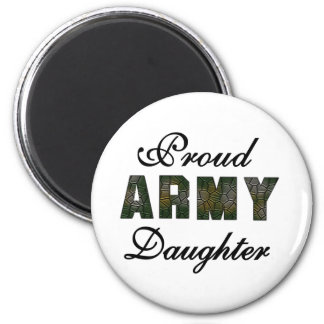 Proud Army Daughter 6 Cm Round Magnet
