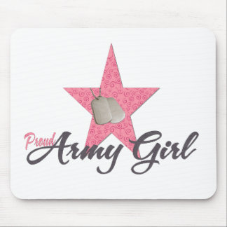 Proud Army Girl Mouse Mat