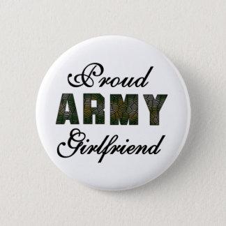 Proud Army Girlfriend 6 Cm Round Badge