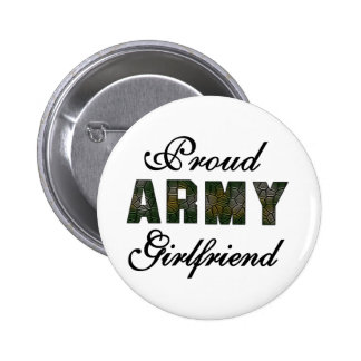 Proud Army Girlfriend 6 Cm Round Badge