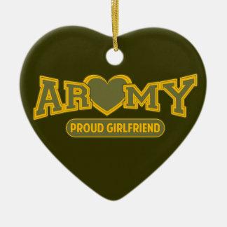 Proud Army Girlfriend Ceramic Heart Decoration