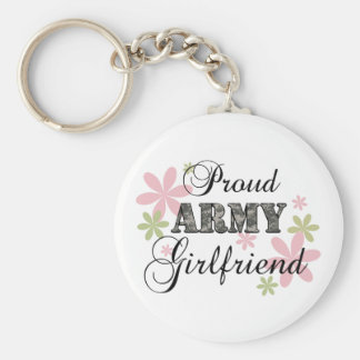 Proud Army Girlfriend [fl c] Basic Round Button Key Ring