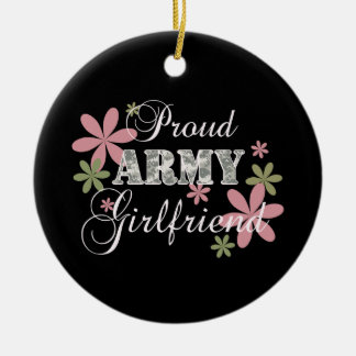 Proud Army Girlfriend [fl c] Christmas Ornament